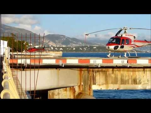 Various helicopters at Monaco Heliport MCM-LNMC