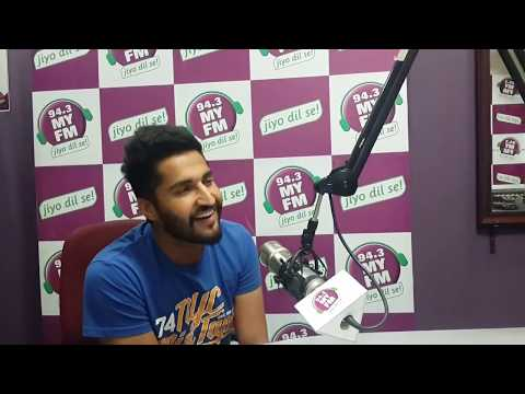 Jassi Gill Live aazma song at MY FM Studio