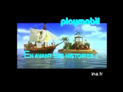 playmobil  bateau pirates , publicité vintage /  pub pirate film movie