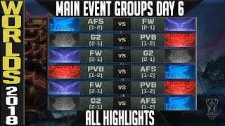 Worlds 2018 Day 6 Highlights ALL GAMES Main Event