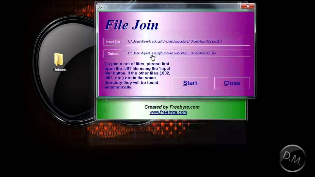 How to join 001 files With HJsplit Tutorial
