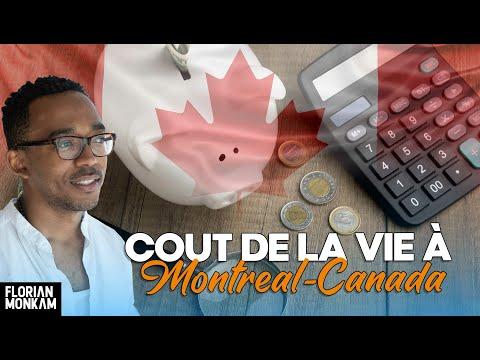 Coût de la vie a Montréal - CANADA