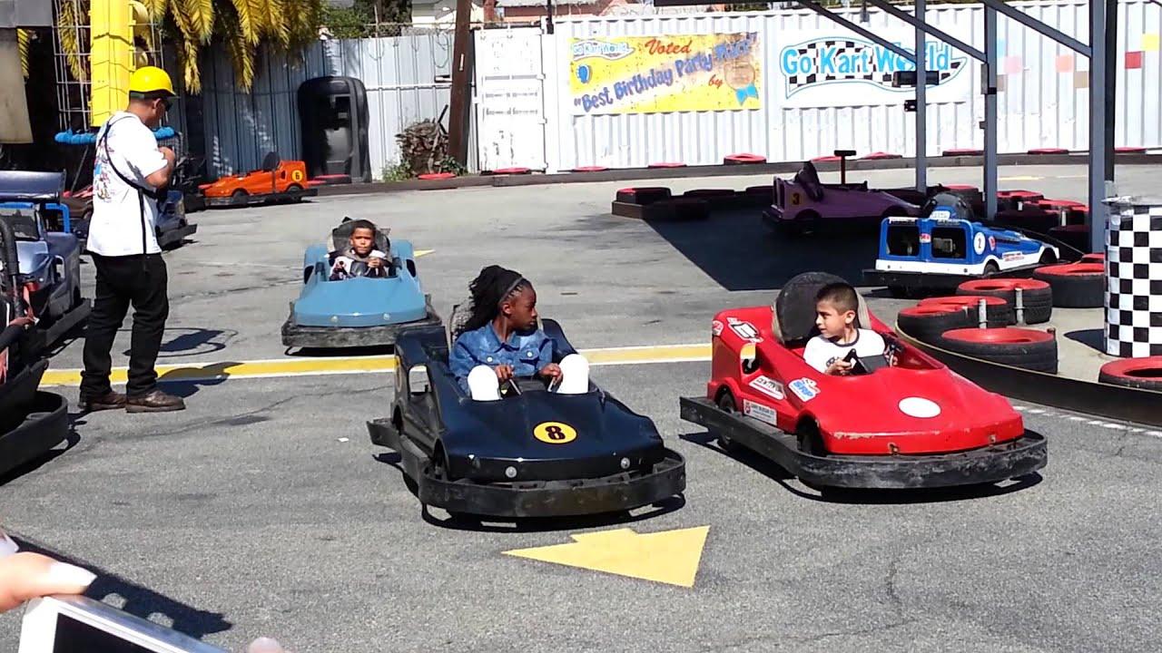 Kids driving go karts - YouTube