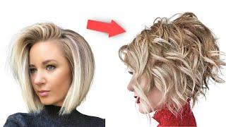 Молодящая Причёска Стрижка Боб Каре Пошагово в домашних условиях Модная Укладка на средние волосы