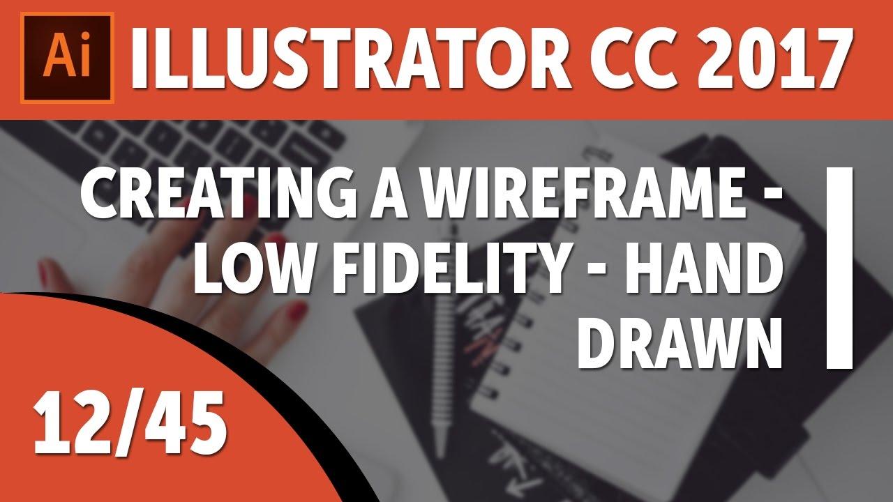 Creating a wireframe - Low fidelity - hand drawn - Adobe Illustrator CC 2017 [12/45]