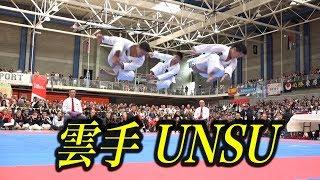 """飛んだ〜!日本空手男子の雲手!Karate Kata """"Unsu"""" in 2017 JKA WORLD TOURNAMENT"""