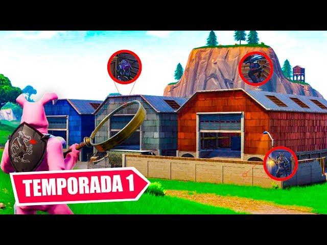 ESCONDITE EN EL *MAPA DE TEMPORADA 1* DE FORTNITE ! CREACIONES MODO CREATIVO! - ElChurches