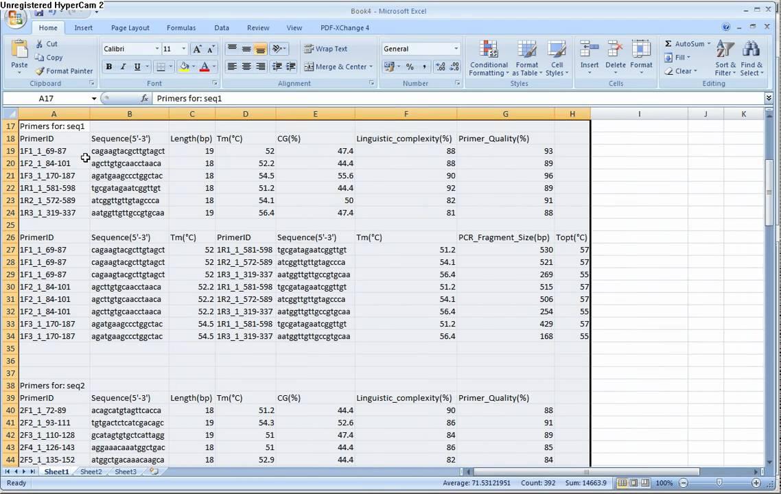 PCR primer design, in silico PCR and oligonucleotides