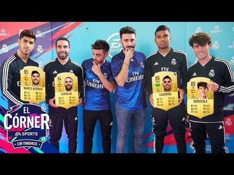 FUTBOLISTAS DEL REAL MADRID SE PONEN SU STATS | EL CÓRNER | FIFA19 |