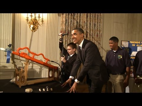 Thumbnail: Raw Video: Marshmallow Launch at the White House Science Fair