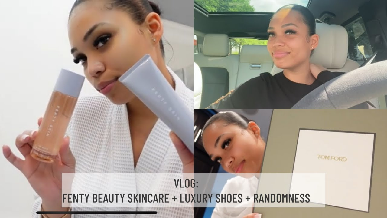 VLOG: FENTY BEAUTY SKIN CARE REVIEW + LUXURY SHOES HAUL + ICED COFFEE SECRET | Briana Monique'