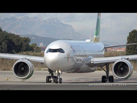 [4K] First Visit! Air Senegal A330-941 NEO Departing Barcelona-El Prat