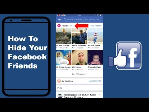 How can i hide my friend list on facebook via mobile