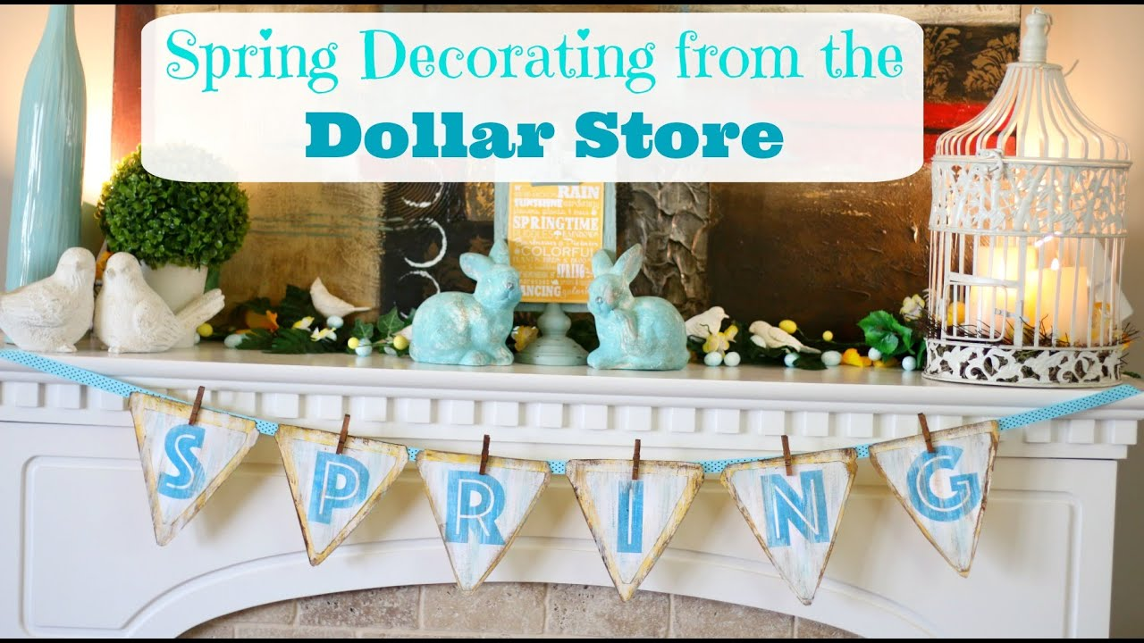 Spring Decorating from The Dollar Store - YouTube