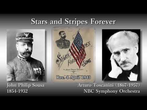 Sousa: Stars and Stripes Forever, Toscanini & NBCso (1943) スーザ 星条旗よ永遠なれ トスカニーニ