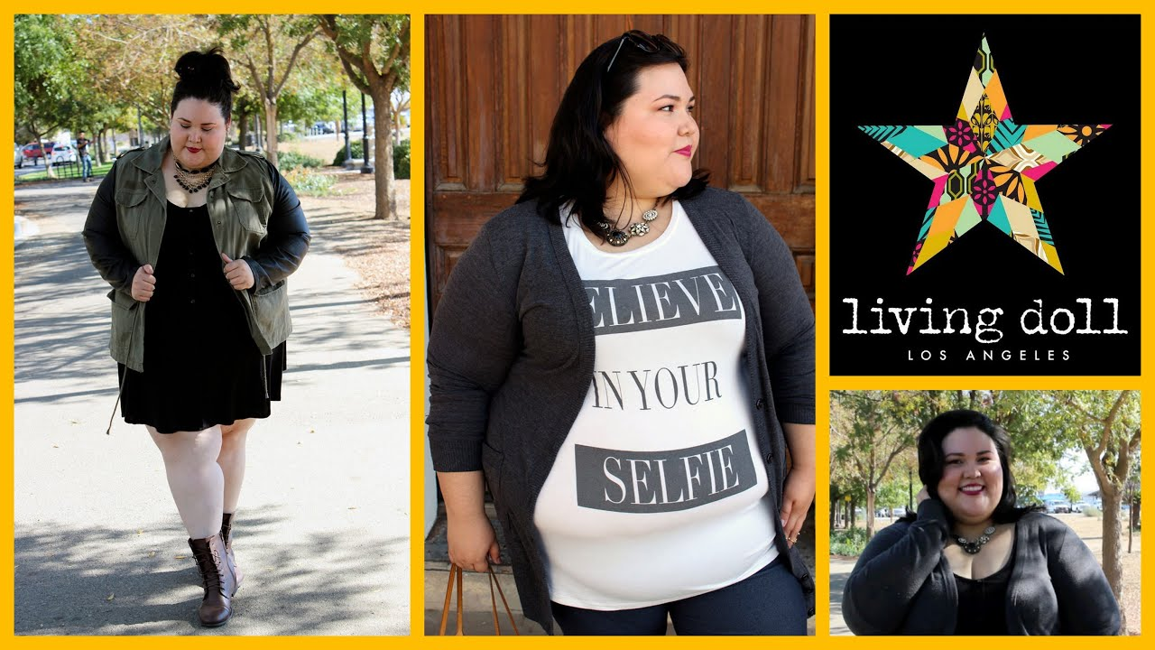 Early Fall Outfits With Living Doll LA | Plus Size Fashion Lookbook - YouTube