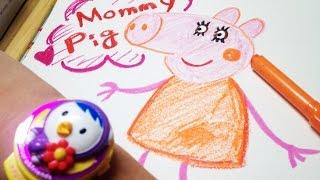 페파피그 - 마미 그리기  Mami drawing of Peppa Pig [LimeTube]