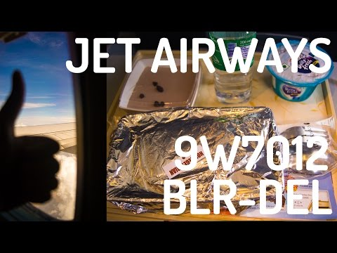 Jet Airways 9W7012 : Flying from Bengaluru to New Delhi