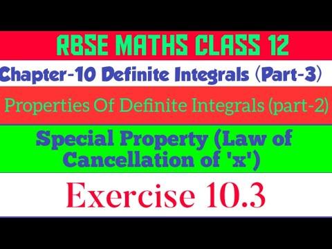 Properties of Definite Integrals, #properties_of_integrals, #special_property, #cancellation_of_x