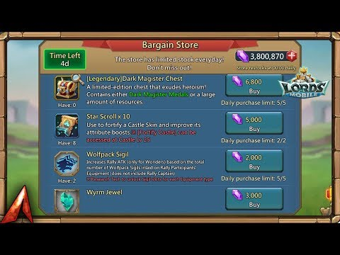 Buying Out The Bargain Store! Worth It!? Lords Mobile