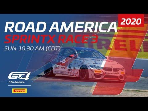 RACE 3 - GT4 SPRINTX - ROAD AMERICA 2020
