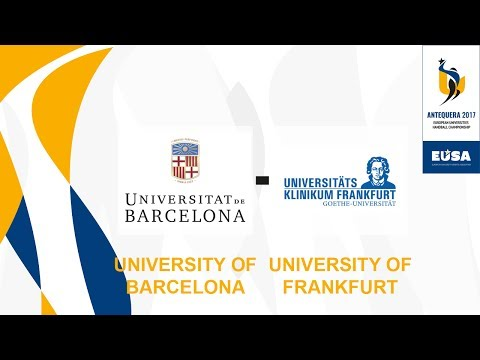 Barcelona University vs Frankfurt University, Quarter-finals Male - EUC Handball 2017