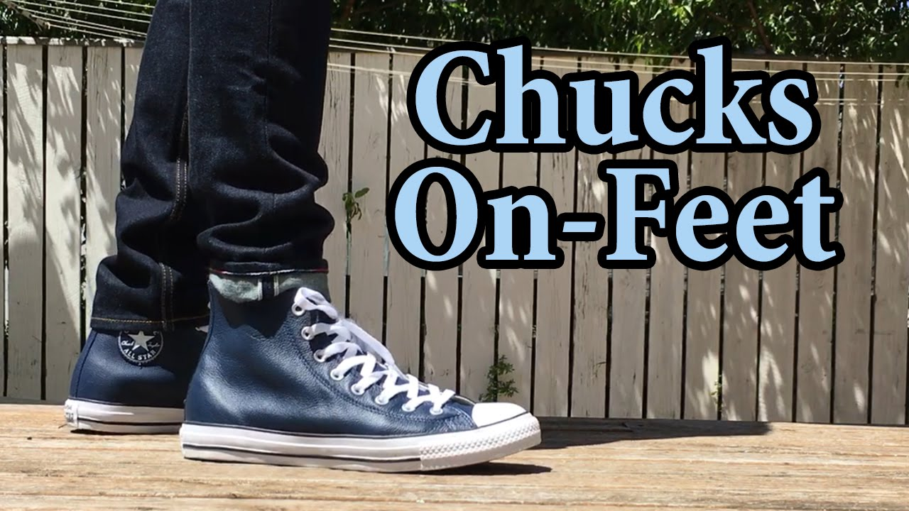 Incierto Es una suerte que Ashley Furman  Converse | Leather Hi Top Chucks | On-Feet with Different Pants - YouTube