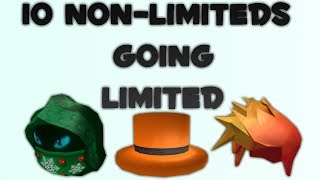 Top 10 NON LIMITEDS that could go LIMITED (Part 2) [2018 Roblox]