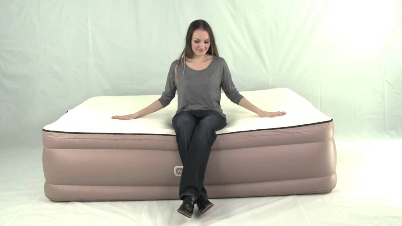 Queen Air Bed   Memory Foam Topper & Built in Pump   Airtek Air