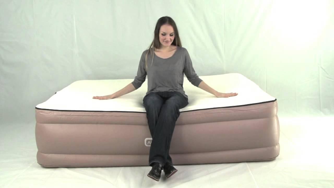 Queen Air Bed Memory Foam Topper Built In Pump
