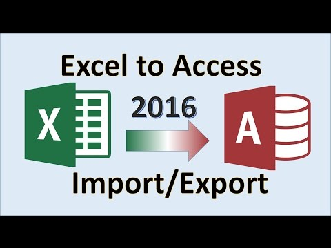 Excel 2016 - Import to Access - How to Export from Microsoft MS Data to Database - Transfer Tutorial