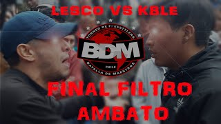 LESCO vs MC KABLE - FINAL - BDM clasificatoria Ambato
