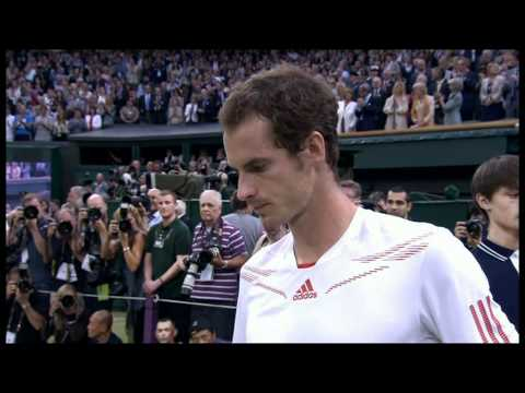 Andy Murray cries after losing to Roger Federer in the Wimbledon Final 2012 (8/7/12)