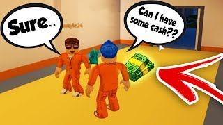 BEGGING FOR CASH IN JAILBREAK *SOCIAL EXPERIMENT* (Roblox)