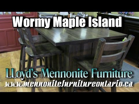 Mennonite Kitchen Island and Chairs, Mennonite Furniture Gallery Vaughan Ontario.