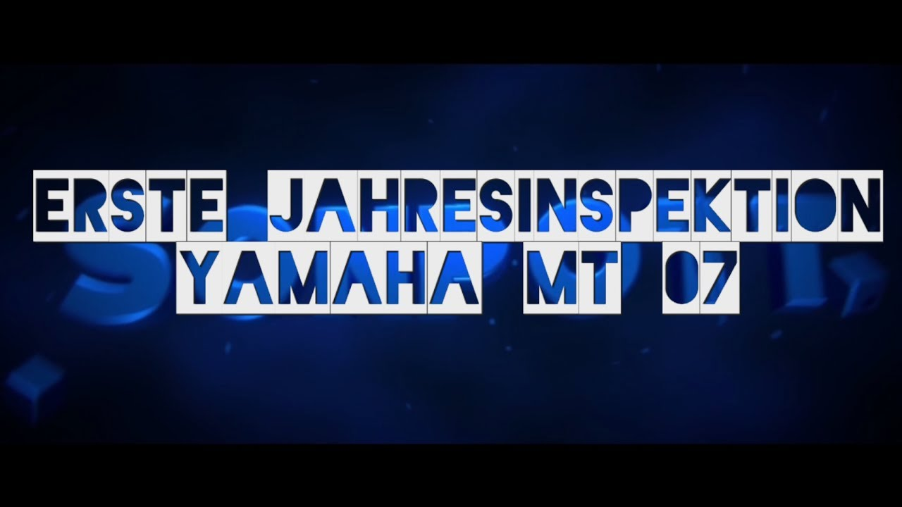 Erste Jahresinspektion Yamaha Mt 07 Motovlog 46 Youtube