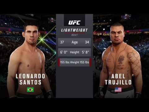 Ultra Real | EA Sports UFC 3 | Abel Trujillo vs. Leonardo Santos (PS4 Pro/60FPS/1080p)