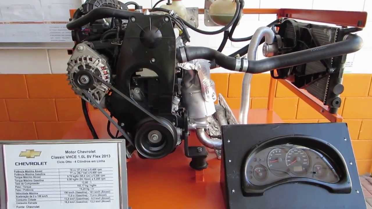 Motor Chevrolet Corsa Classic Em Bancada De Teste