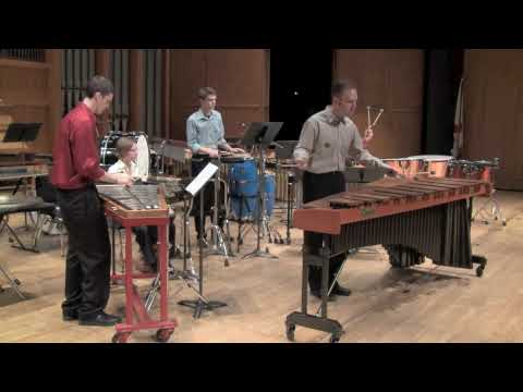 Cloud Forest for marimba and percussion quartet by Blake Tyson