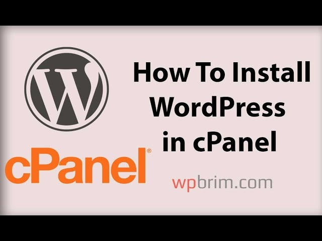 WordPress Tutorial for Beginners Step by Step 2017 - How To Install WordPress In cPanel  part 0