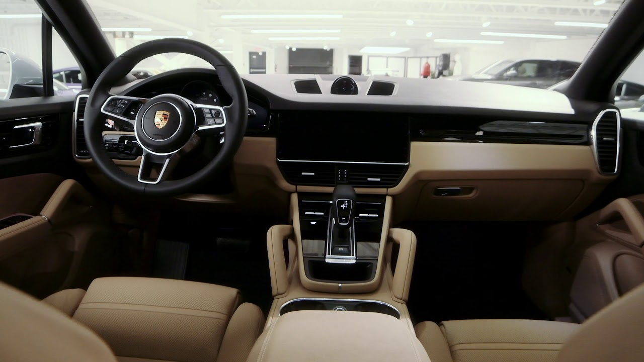 2019 Porsche Cayenne Carrara White On Mojave Beige Youtube