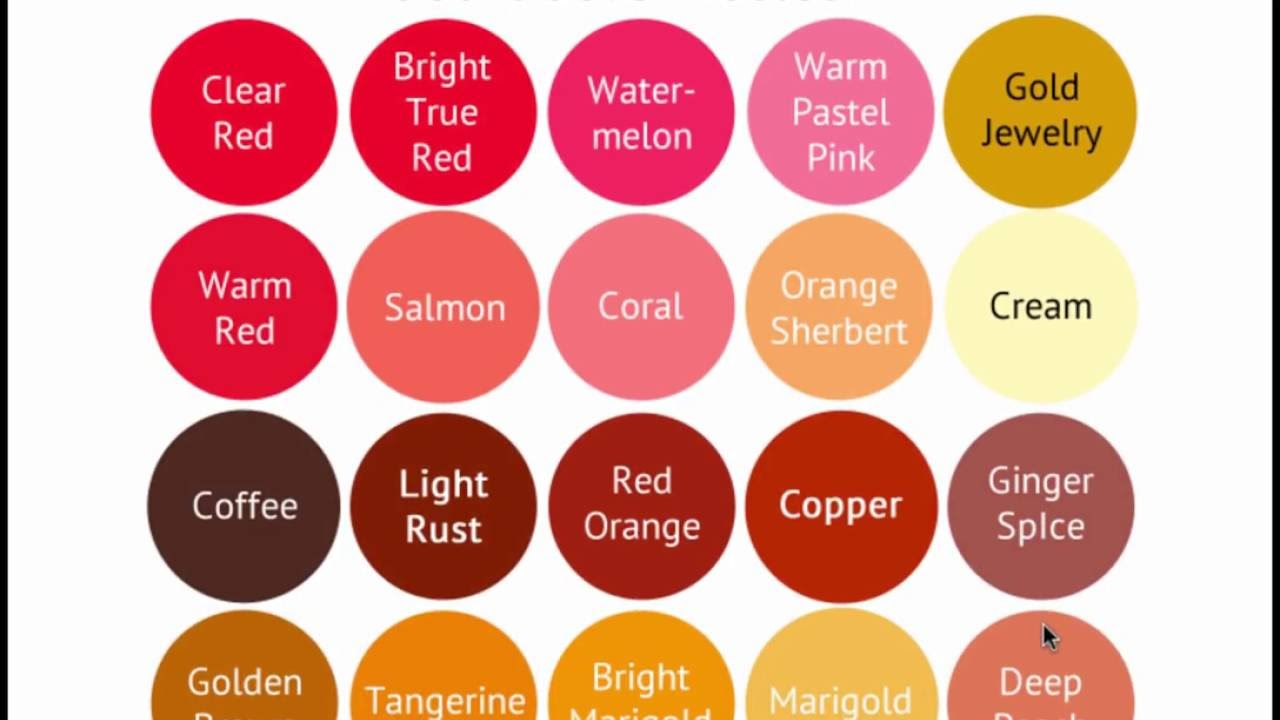 Warm Color Palette Mesmerizing Warm Spring Color Palette  Seasonal Color Analysis  Youtube Design Ideas