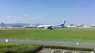 ANA Boeing 777-200 伊丹空港 伊丹スカイパーク 飛行機 着陸 thumbnail