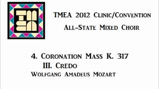 tmea all state mixed choir 2012 coronation mass iii credo
