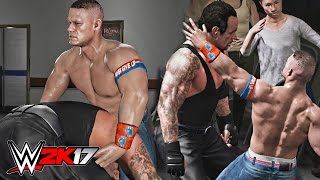 WWE 2K17 - John Cena vs Undertaker Crowd & Backstage Brawl Gameplay