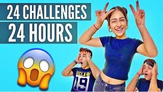 24 CHALLENGES IN 24 HOURS     Rimorav Vlogs