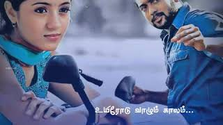 Yuvan💕கண்ணில் காந்தமே💕Kannil Kandhame Song Tamil lyrics|Mounam Pesiyadhe|Surya|Trisha|SPB