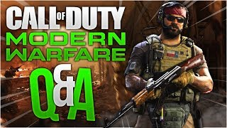 Call Of Duty Modern Warfare Live QandA Session