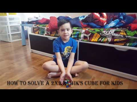 How to a solve a 2X2 rubik's cube for kids (7 Year old Teacher)