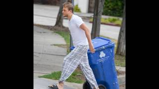 Charlie Hunnam Steps Out in Pajamas to Retrieve Trash Bin